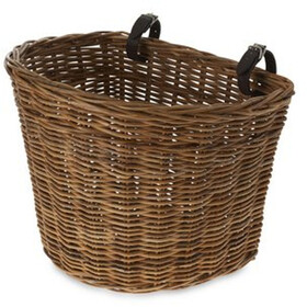 Basil Darcy Rotan L Front Wheel Basket, nature brown